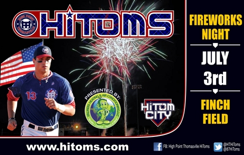 Fireworks at Finch Field on July 3