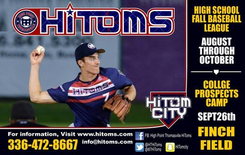 UHC/HiToms Fall League Schedule