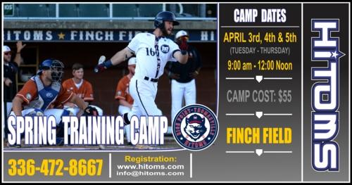 Spring Training Camp, April 3-5